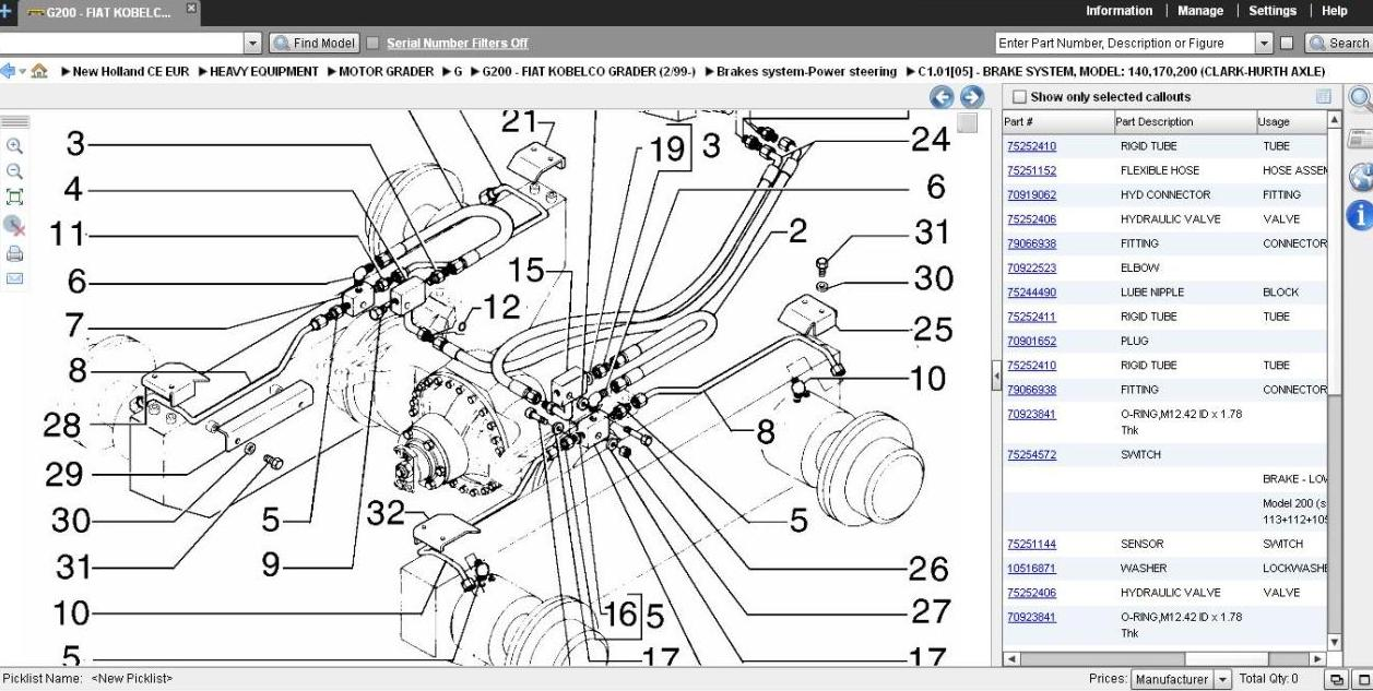New Holland Skid Steer Wiring Diagram Library Ford Ls180 L250 Ls160 Parts